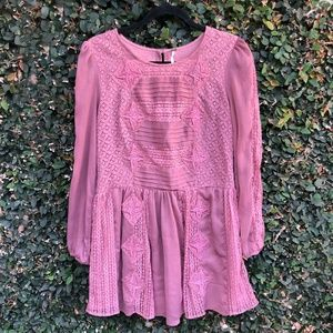 Free People Leigh Laven Lace Dress Size XS